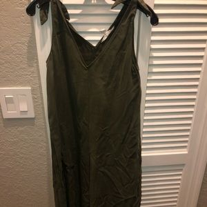 BCBGeneration army green jumpsuit